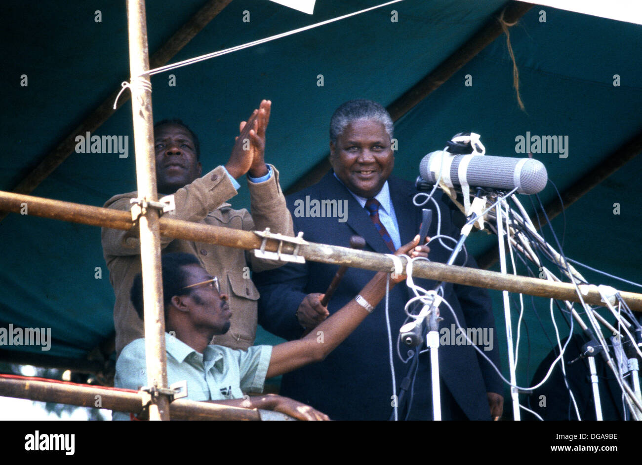 Lancaster house agreement stock photos lancaster house agreement joshua nkomo rhodesia zimbabwe january 1980 joshua nkomo arrives at harare stadium platinumwayz