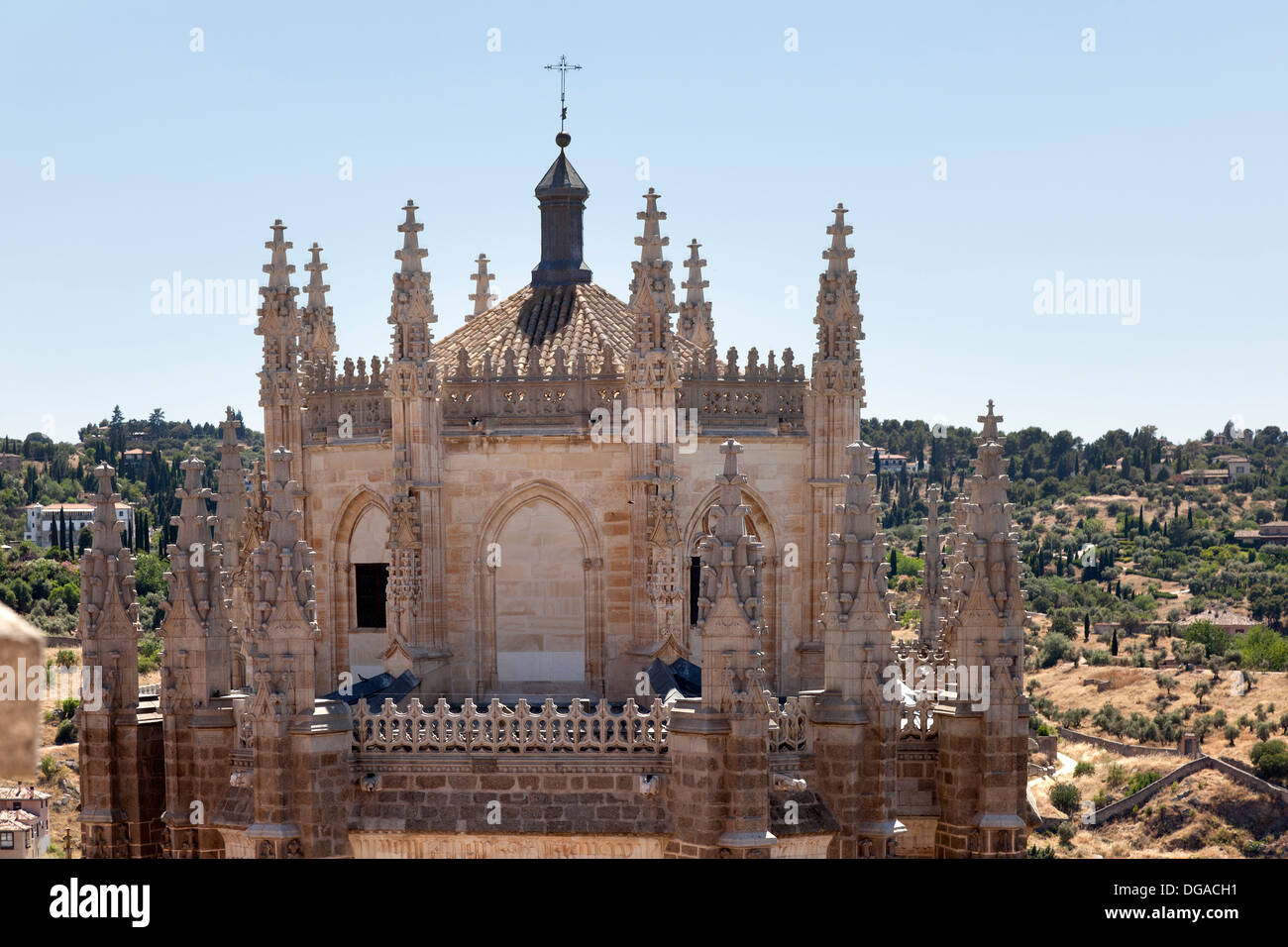 Monastery of San Juan de los Reyes in Toledo, Spain - Stock Image