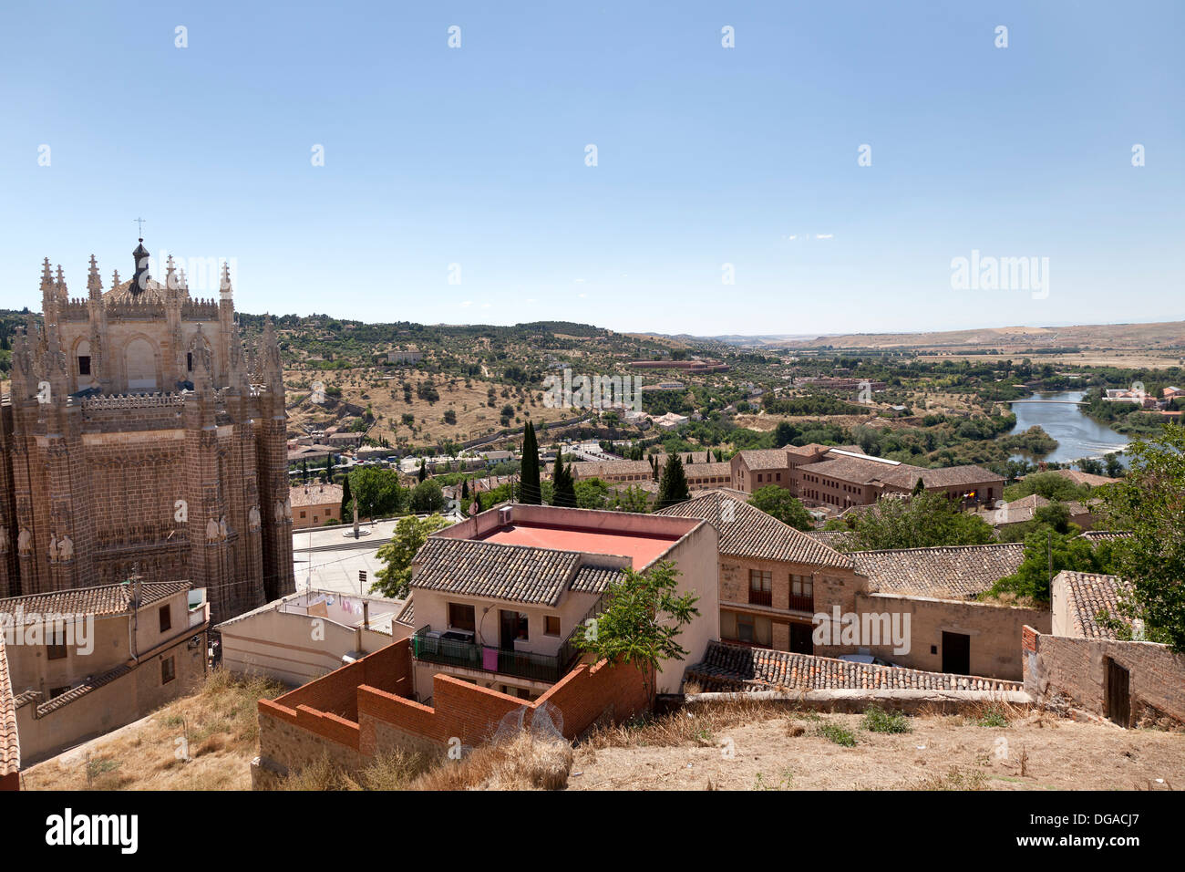 View from Toledo, Spain - Stock Image