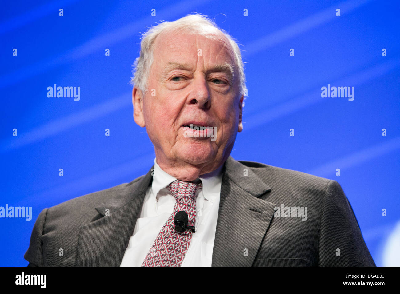 T. Boone Pickens, Chairman of BP Capital Management. - Stock Image