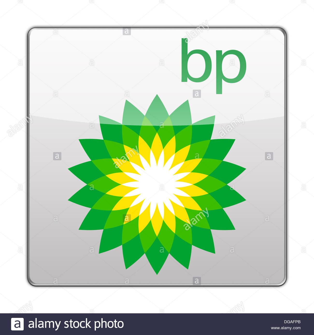 Bp British Petroleum Icon Logo Button App Flag Stock Photo