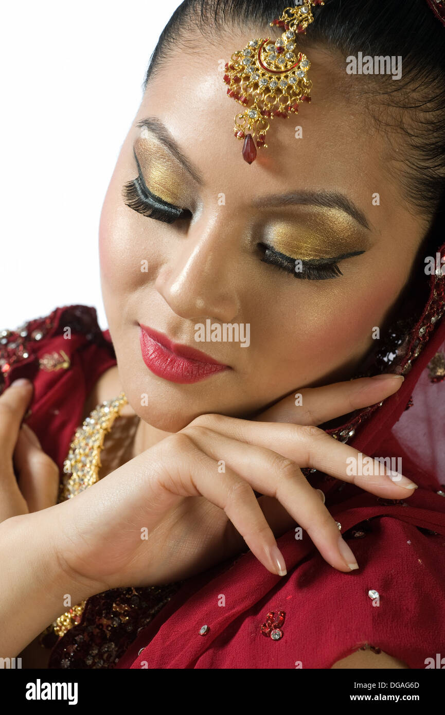 An asian bride - Stock Image