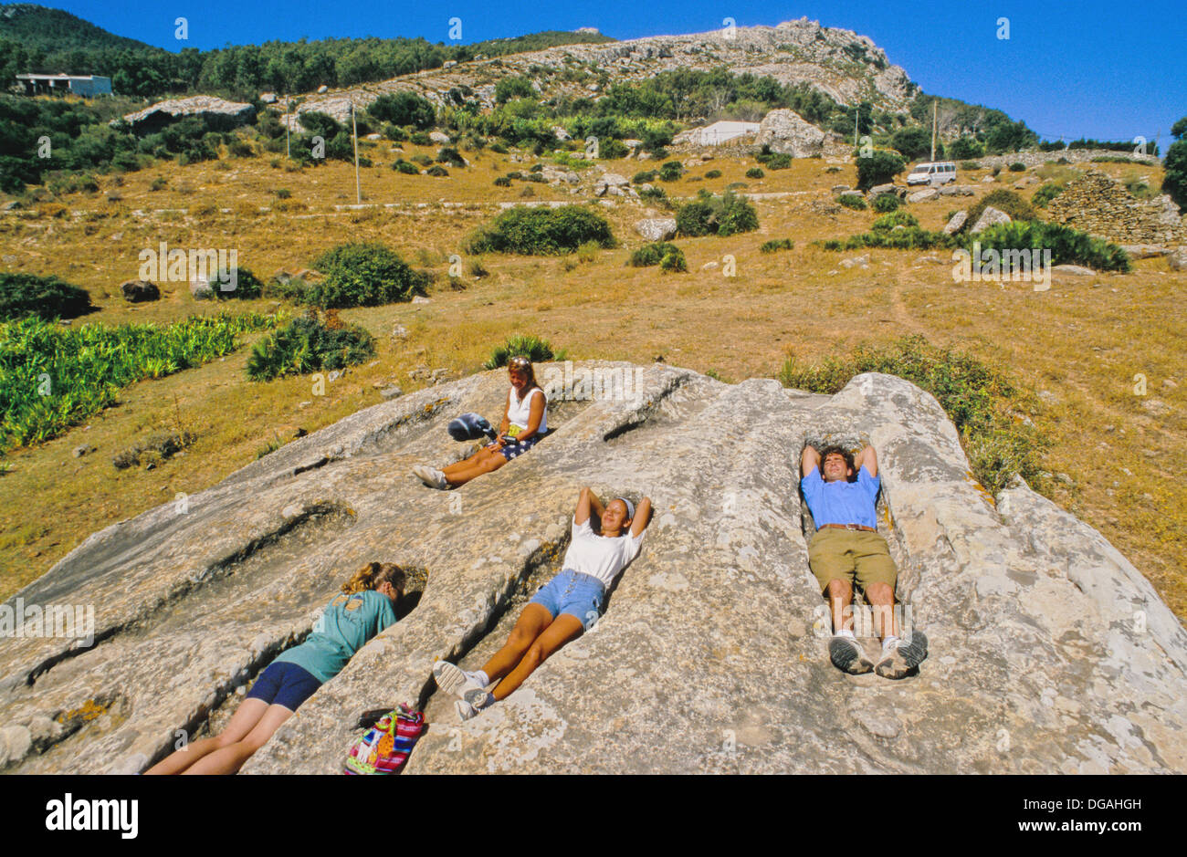 Prehistorical Graves, Betis, Andalucia - Stock Image