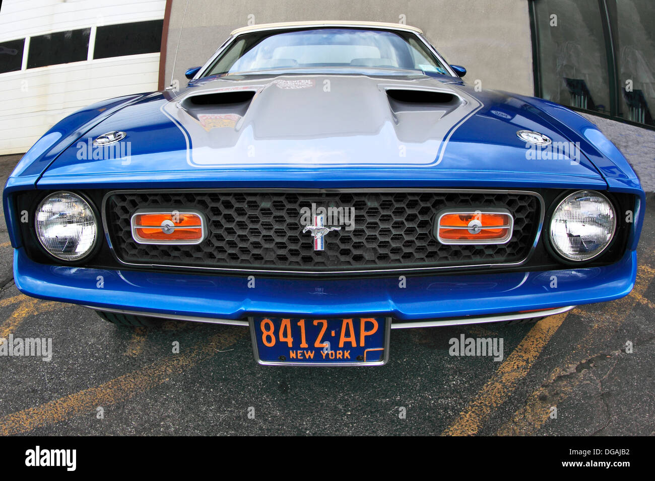 Classic Ford Mustang Mach 1 Long Island New York - Stock Image
