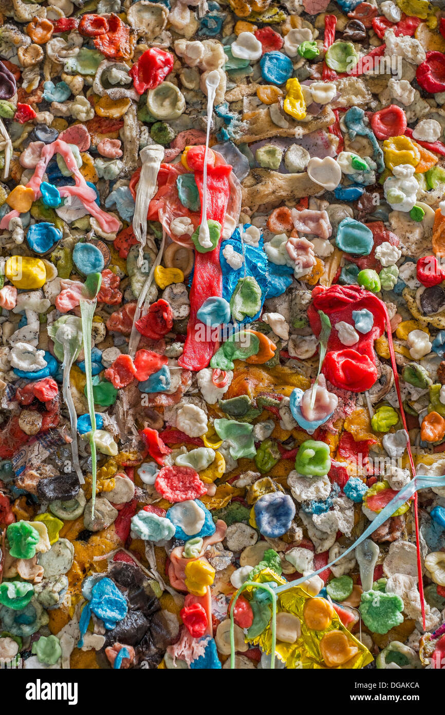 Gum Wall in Seattle - Stock Image