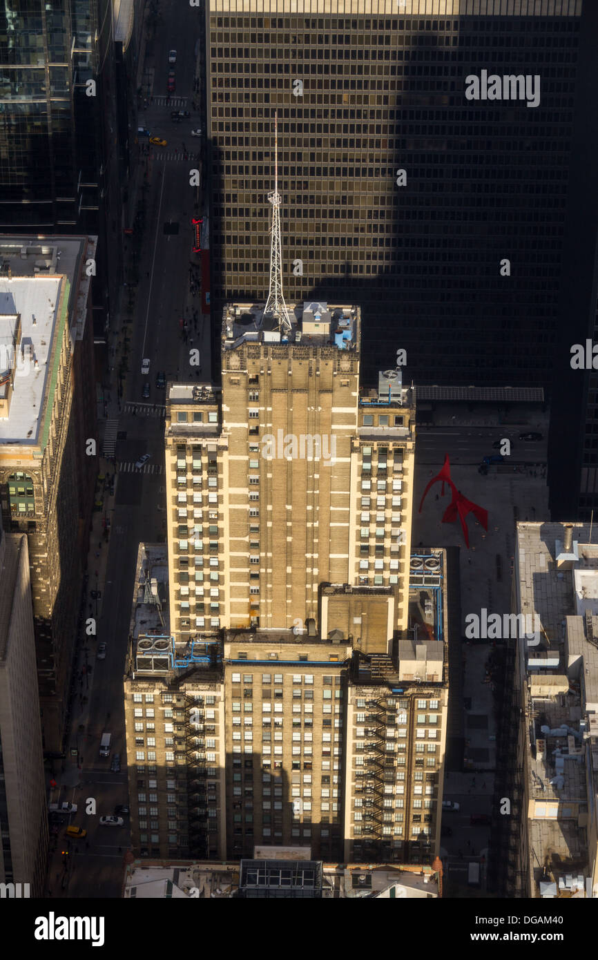 Aerial view of Clark Adams (Bankers) Building, Chicago, USA - Stock Image
