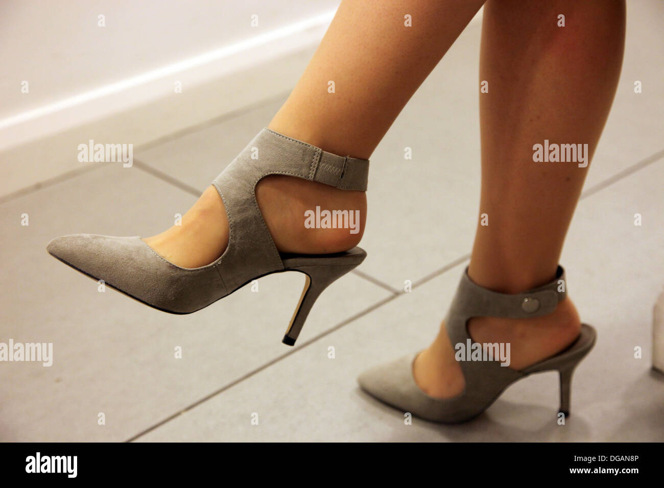 Cuff Pointed Court Shoes by Next - Stock Image