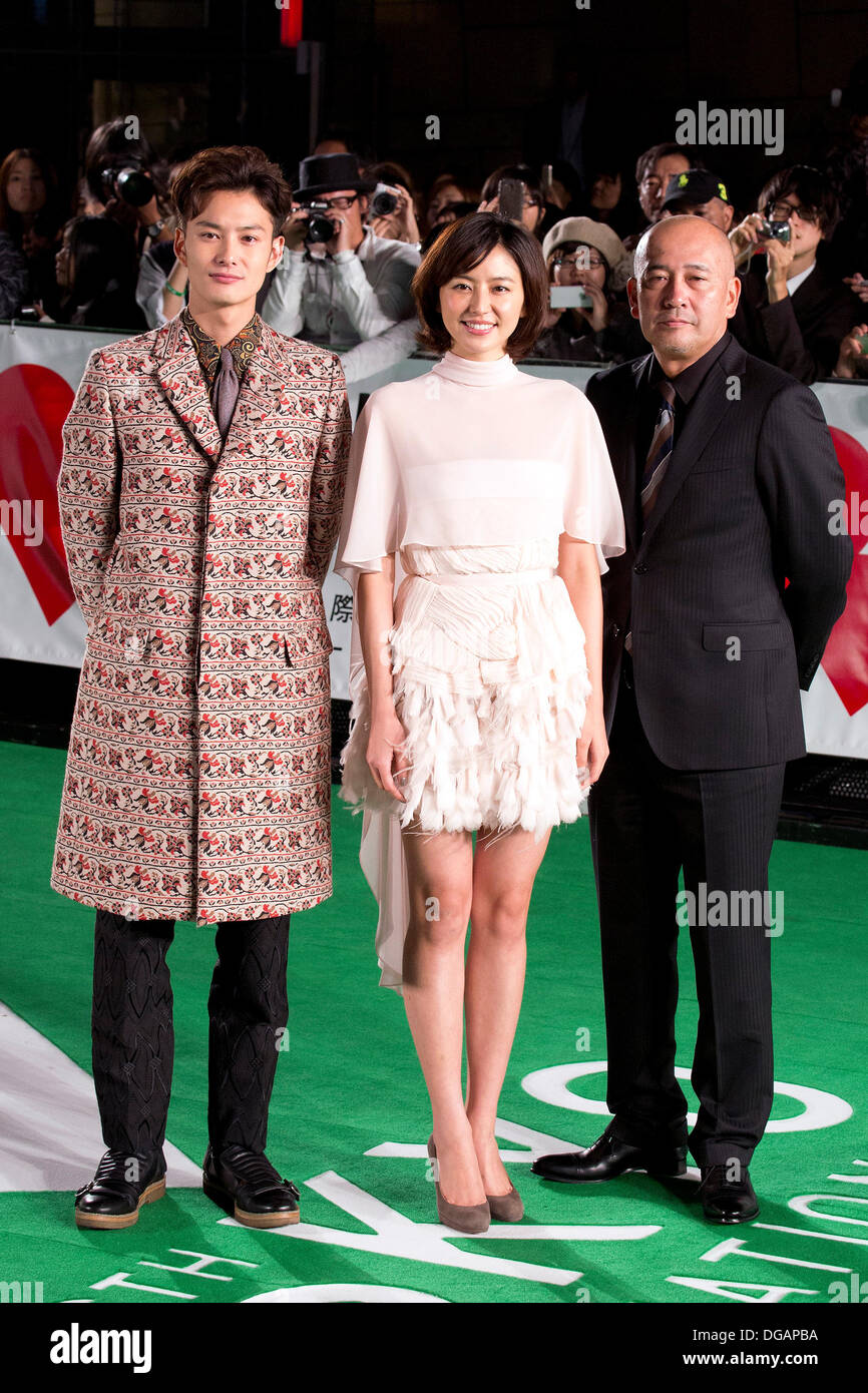 Tokyo, Japan  17th Oct, 2013  (L to R) Cast of the movie