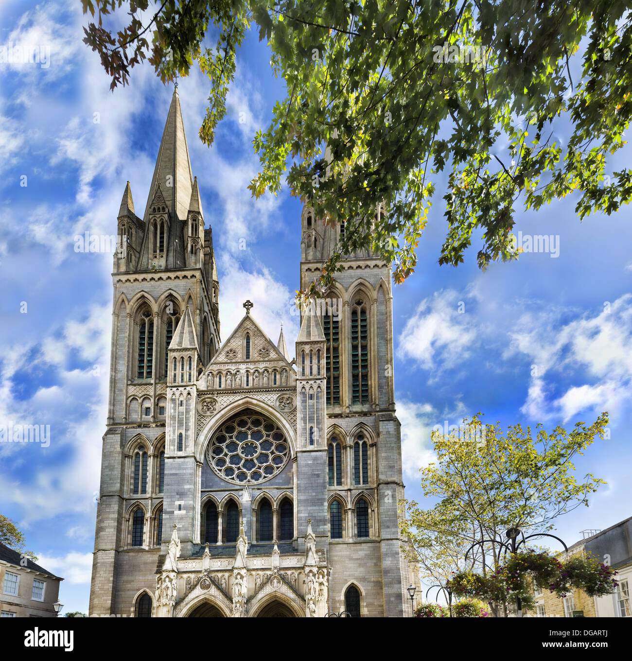 Truro Cathedral in Cornwall - Stock Image