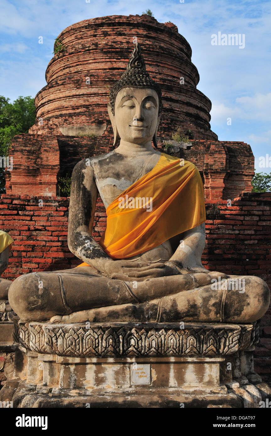 Wat Yai Chai Mongkhon in Ayutthaya province, Thailand Stock Photo