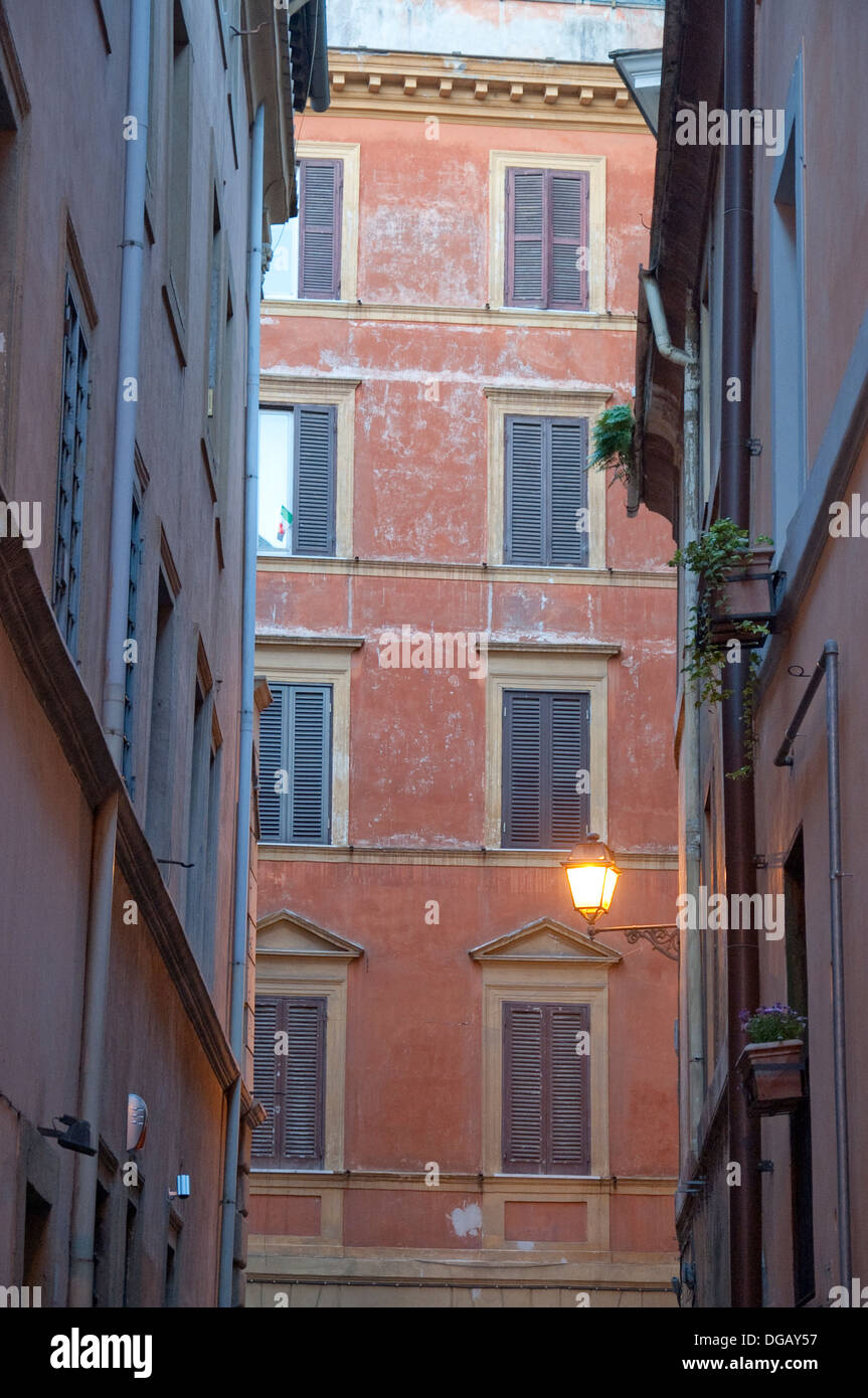 Residential architectural detail in central Rome, Lazio, Italy Stock Photo