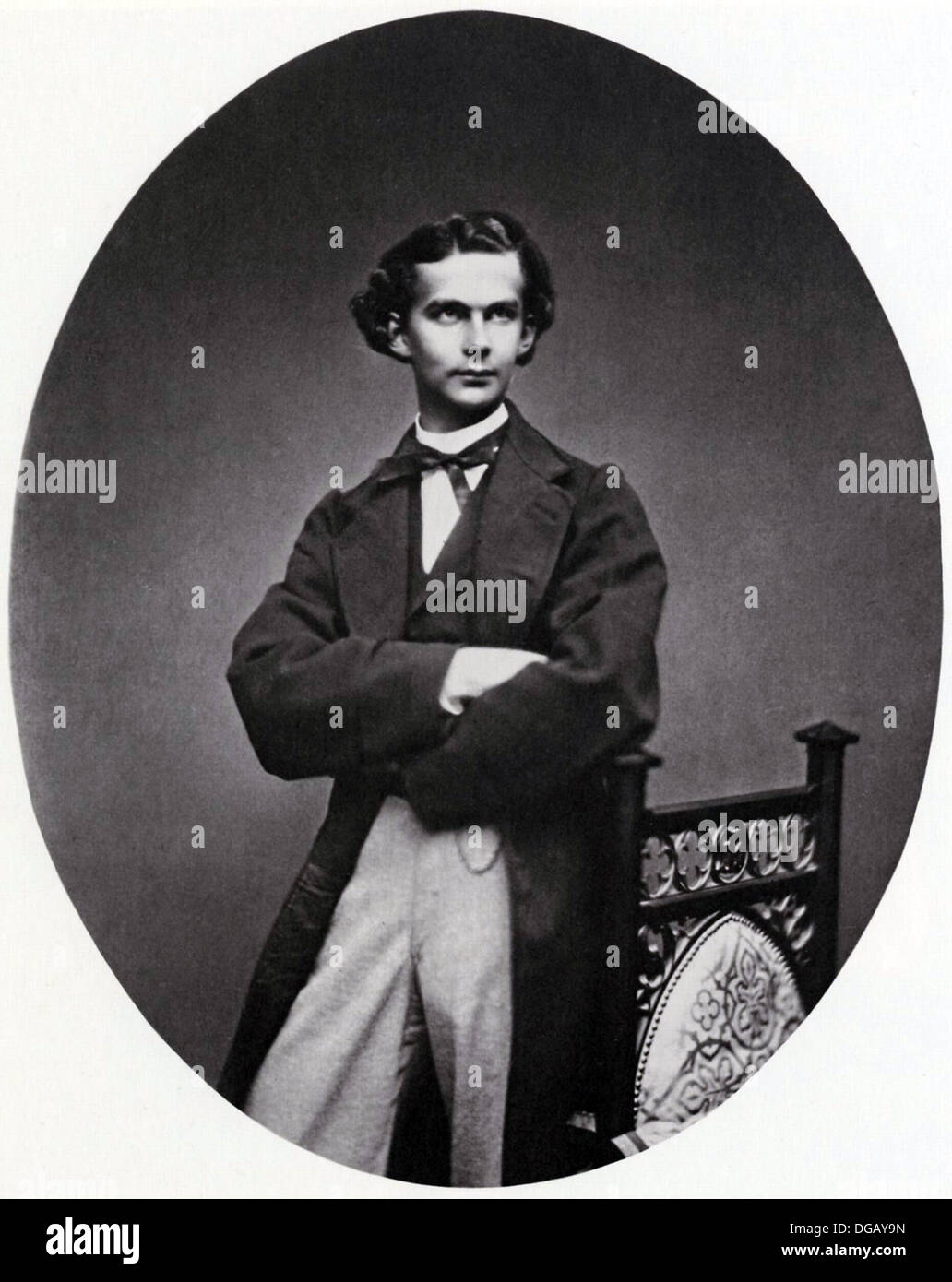 Portrait of King Ludwig II of Bavaria  - Stock Image