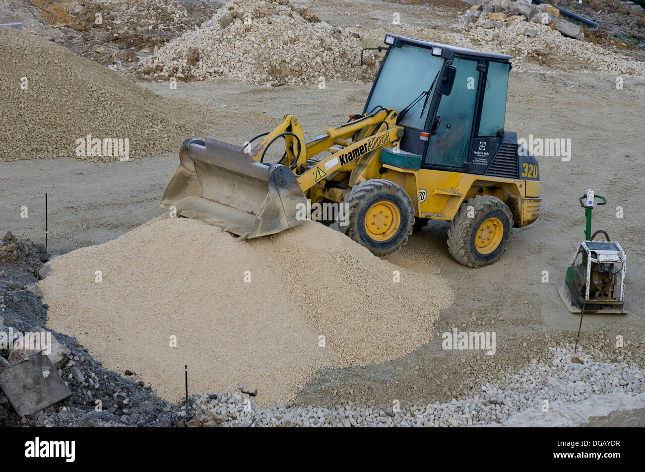 Small 4WD Wheel Loader - Stock Image