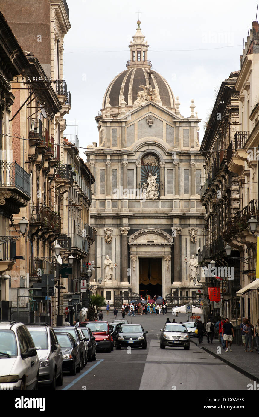 Cathedral of Santa Agata, Catania, Sicily, Italy. - Stock Image