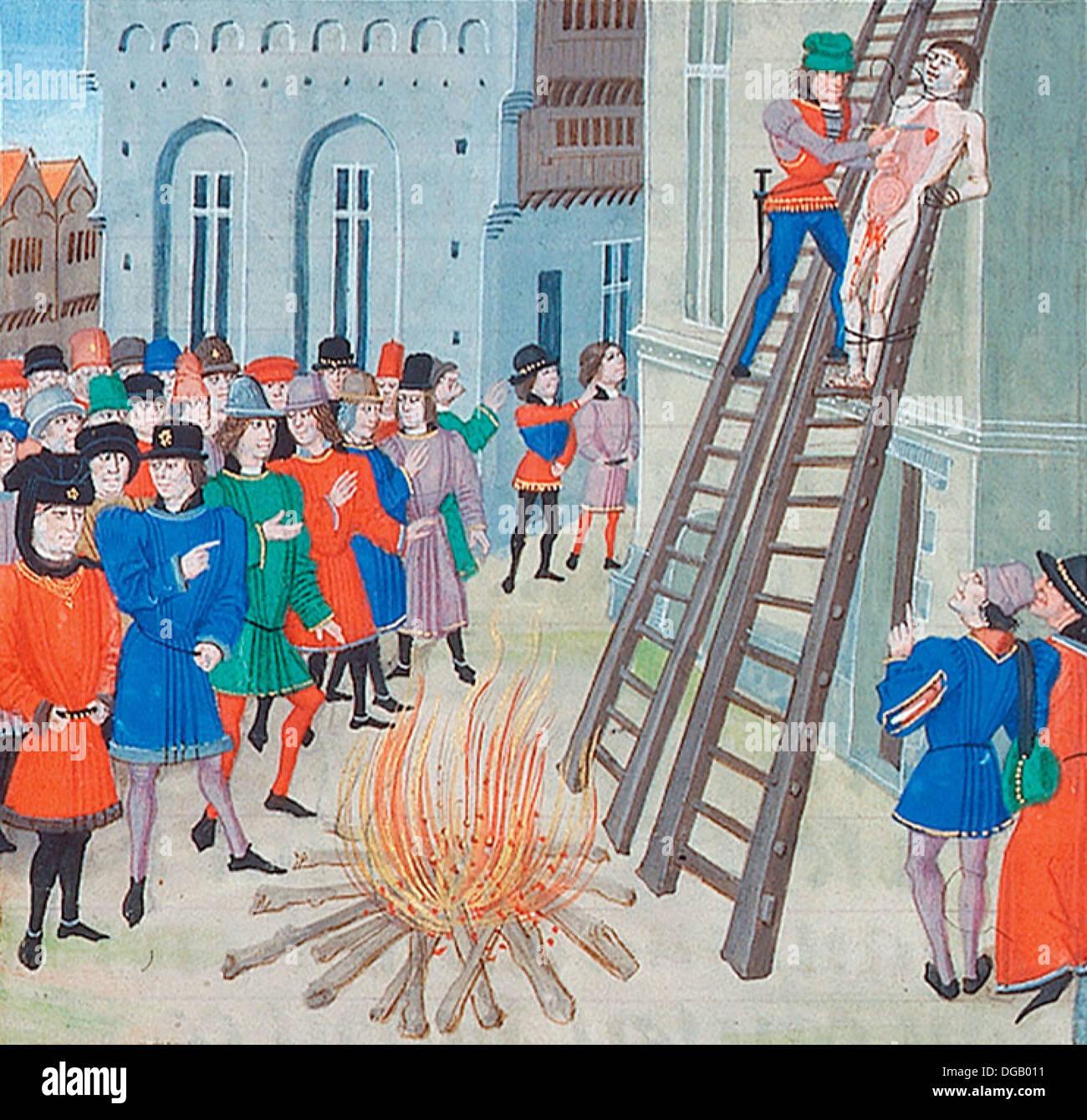 Execution of Hugh Despenser, 1st Lord Despenser, 'the younger Despenser' - Stock Image