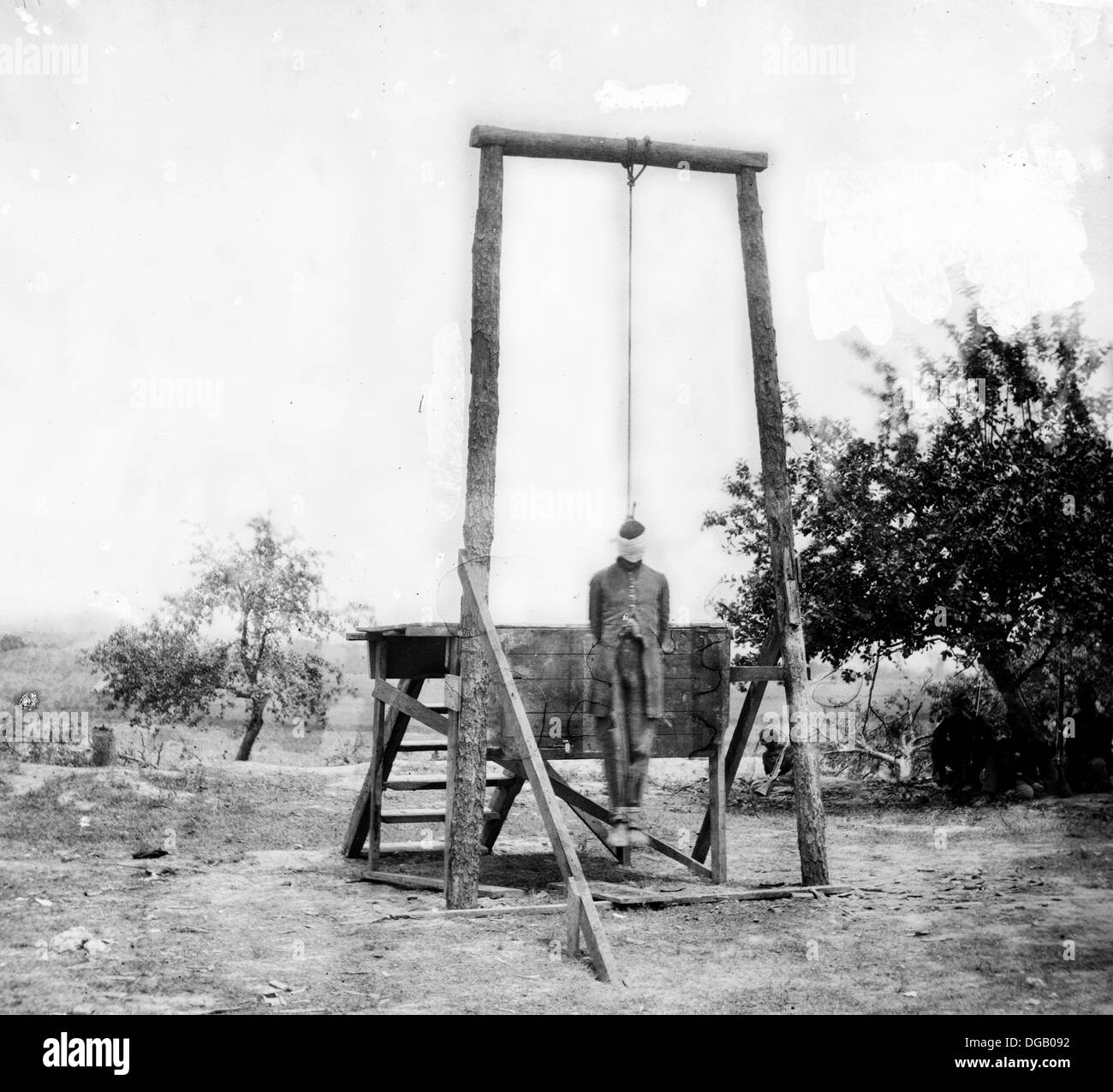 The execution of William Johnson, Union army hang William Johnson - Stock Image