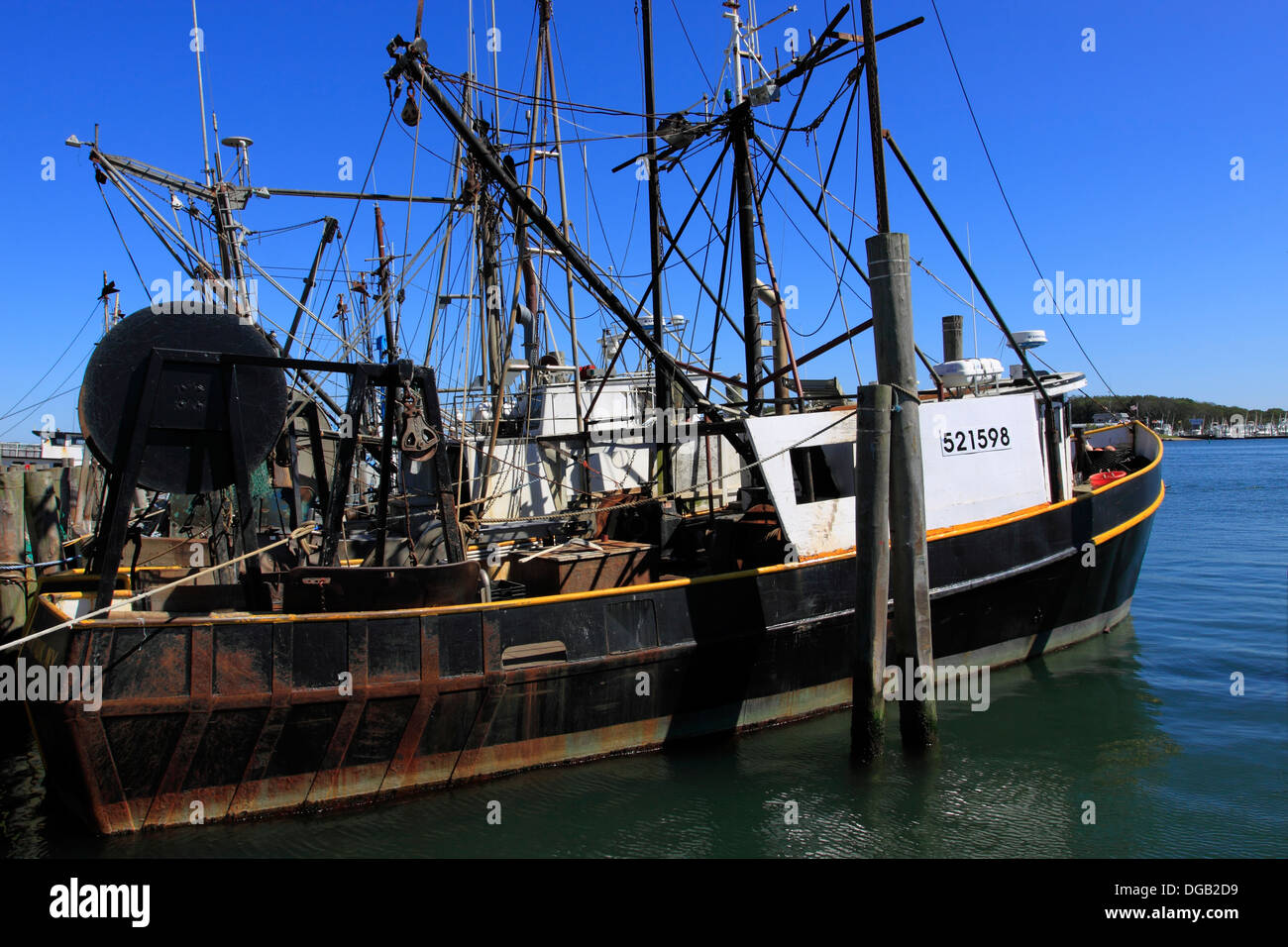 Commercial fishing boat rust stock photos commercial for Fishing boats long island