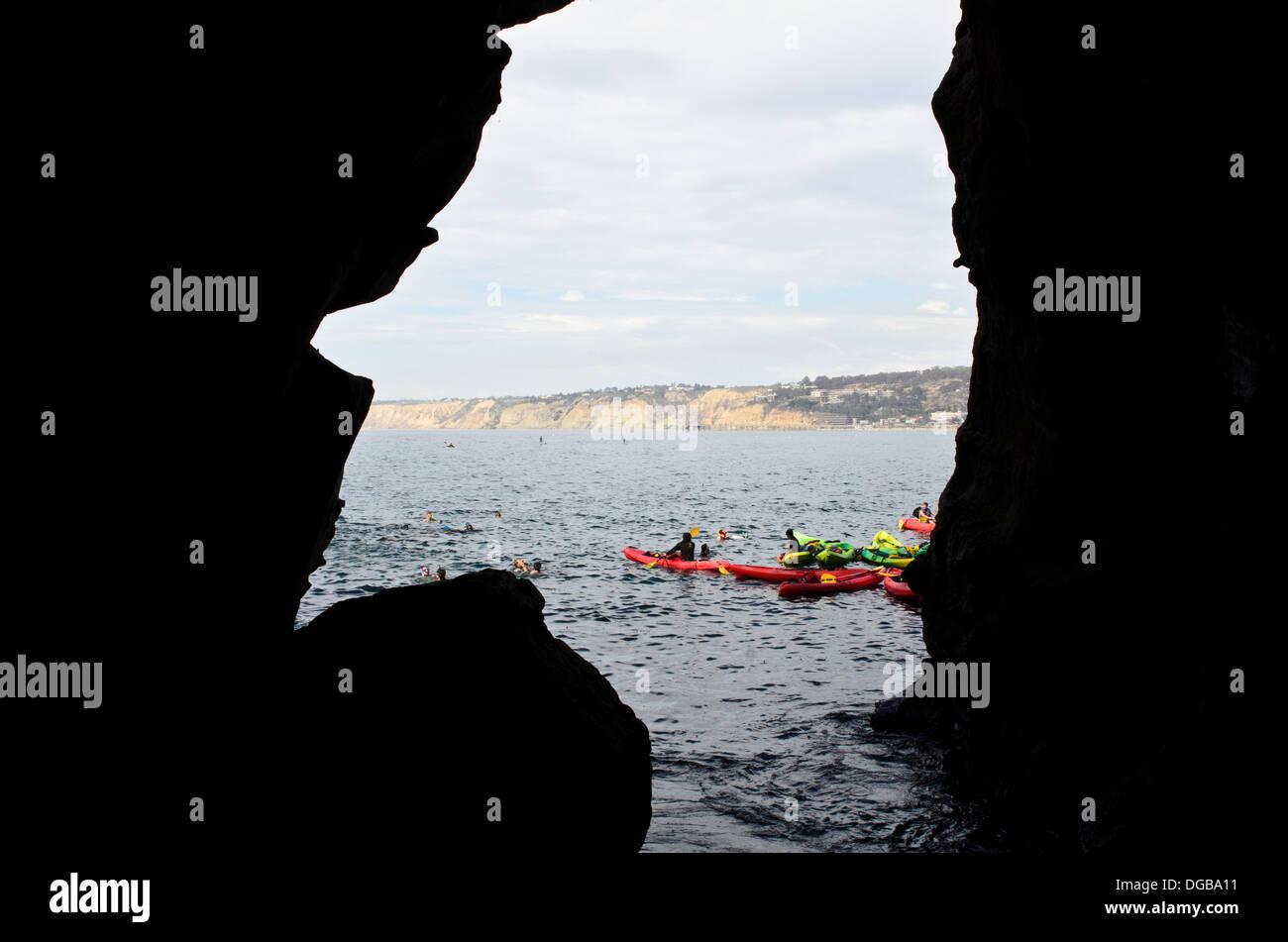 Sunny Jim Cave In La Jolla San Diego Ca Usa Stock Photo