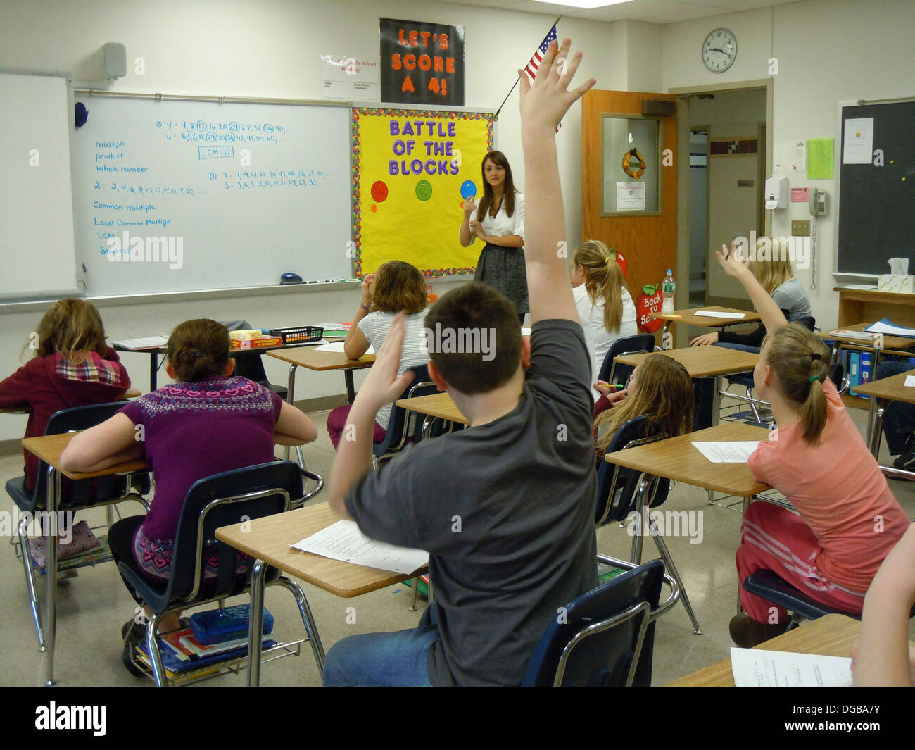 High School Math Classroom Design ~ Middle school math classroom stock photo alamy