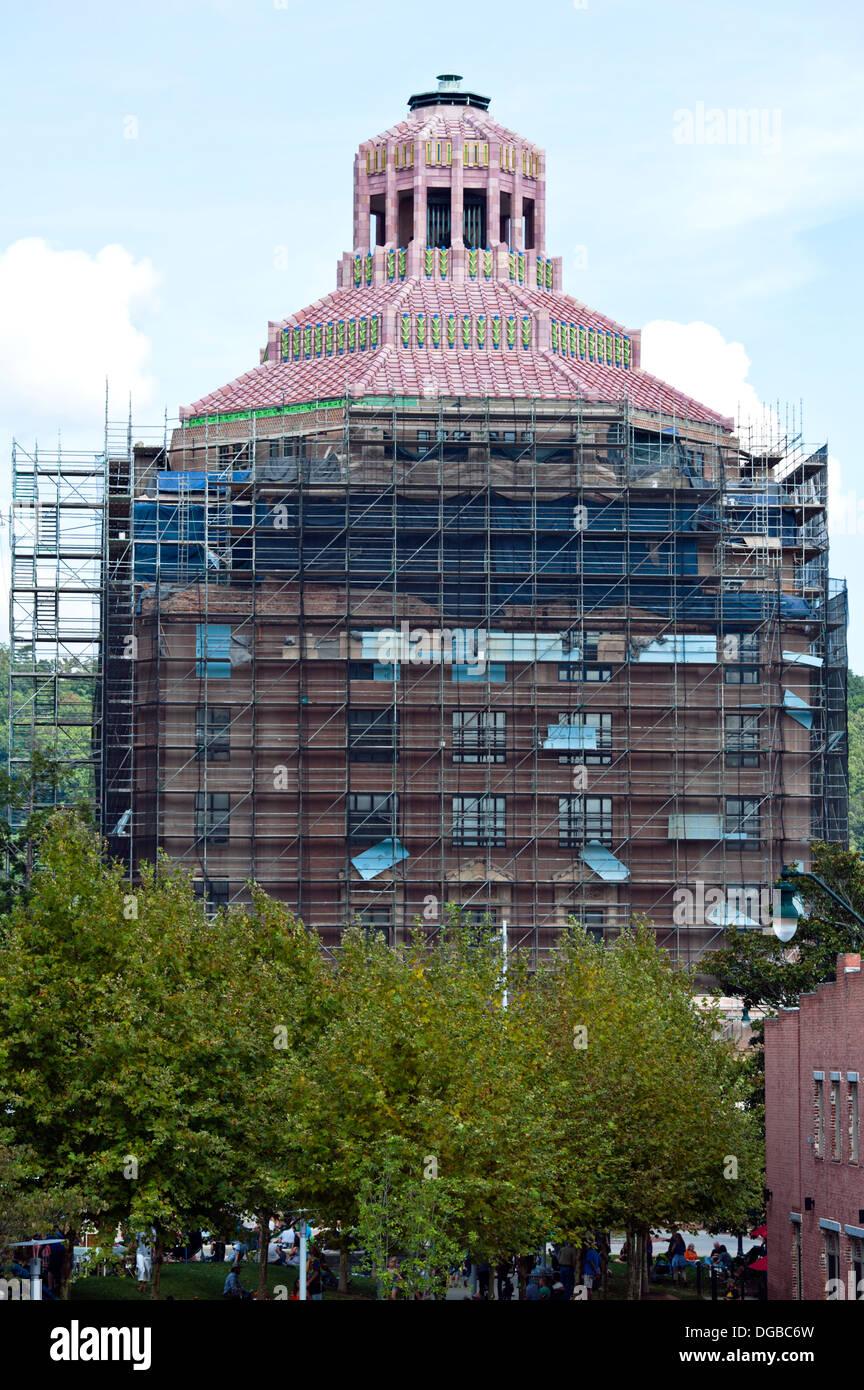 The City Building of Asheville, North Carolina - Stock Image