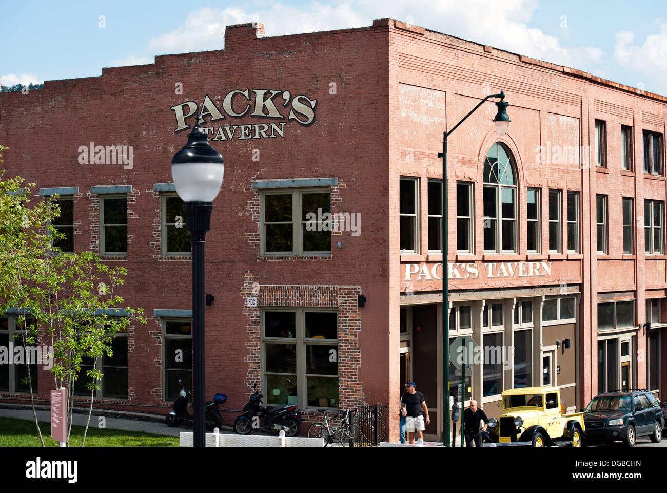 Packs Tavern in Asheville, North Carolina - Stock Image