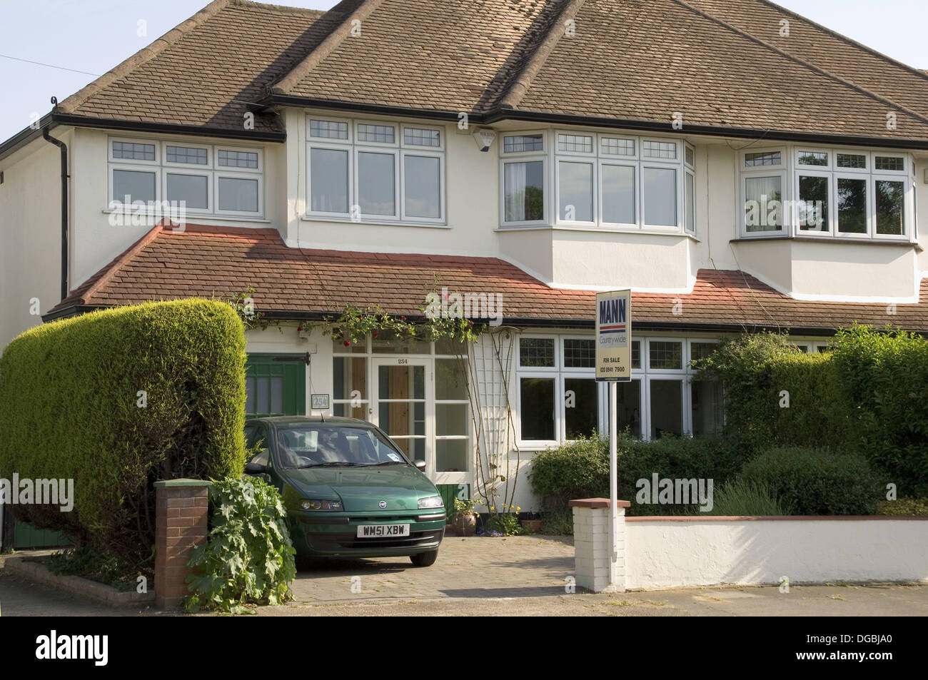 Awesome England London Surrey Semi Detatched House For Sale Stock Download Free Architecture Designs Rallybritishbridgeorg