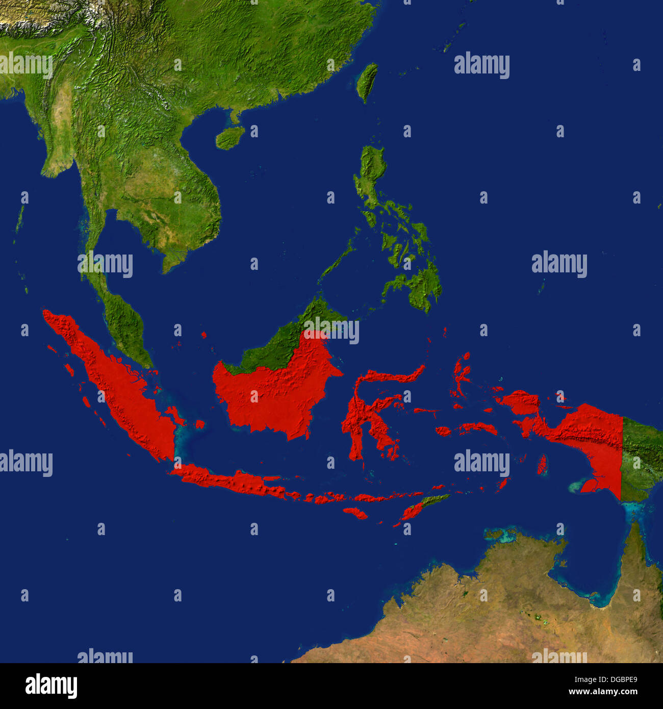 Highlighted satellite image of indonesia stock photo 61724721 alamy highlighted satellite image of indonesia gumiabroncs Choice Image