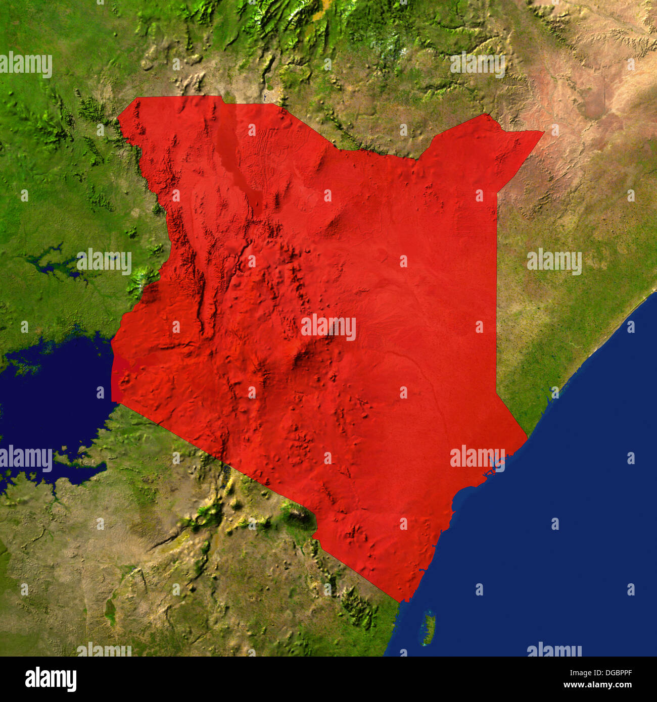 Map Satellite Geography Kenya High Resolution Stock Photography And Images Alamy