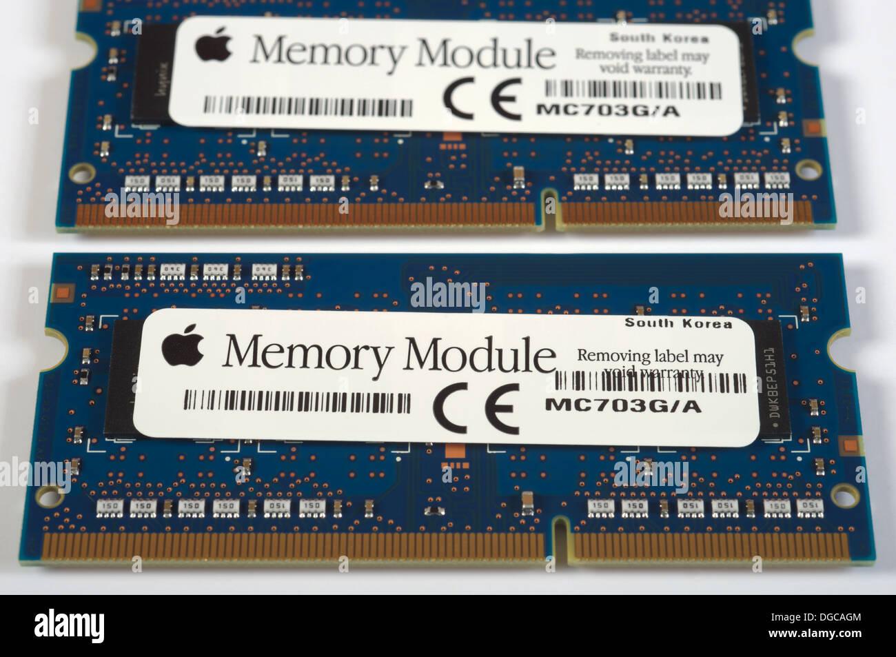 Apple computer memory modules - Stock Image