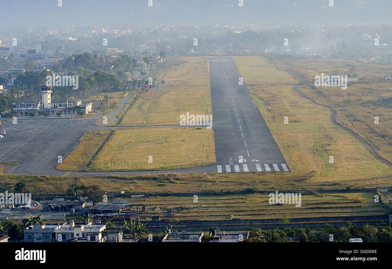 Pokhara, Airport, Nepal - Stock Image
