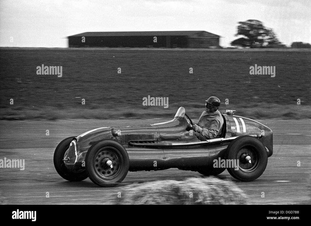 An ERA racing in the International Trophy at  Silverstone, England 1950. - Stock Image