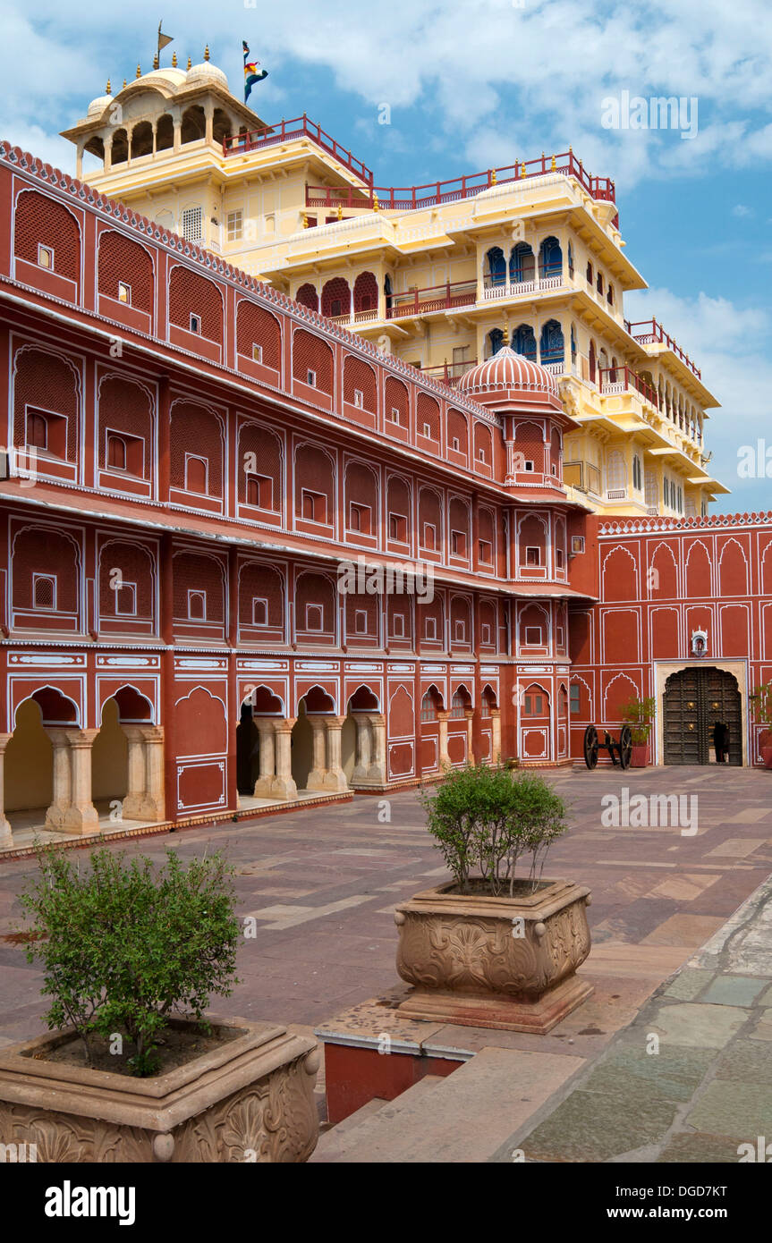 City Palace of Jai Singh II, Chandra Mahal, Jaipur, Rajasthan, India, South Asia Stock Photo