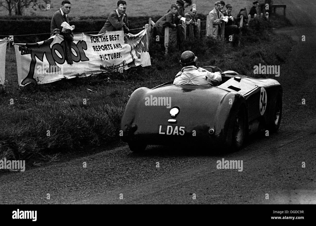 Ian Burgess/Austen Nurse, Kieft-Bristol - Did not finish the Dundrod TT, Northern Ireland,1953. - Stock Image