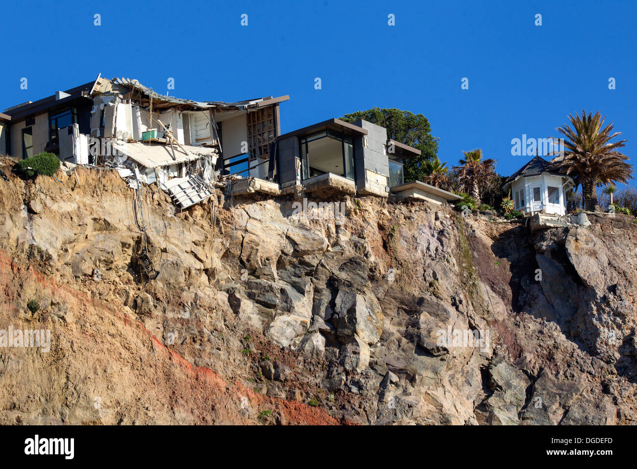 Christchurch earthquakes, Sumner - Stock Image