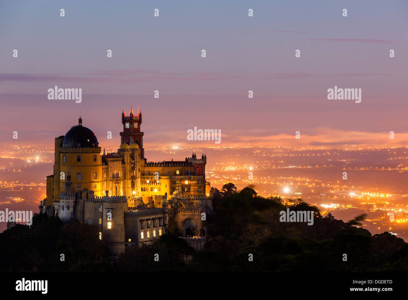 The Pena National Palace, Sintra, Portugal, Europe Stock Photo