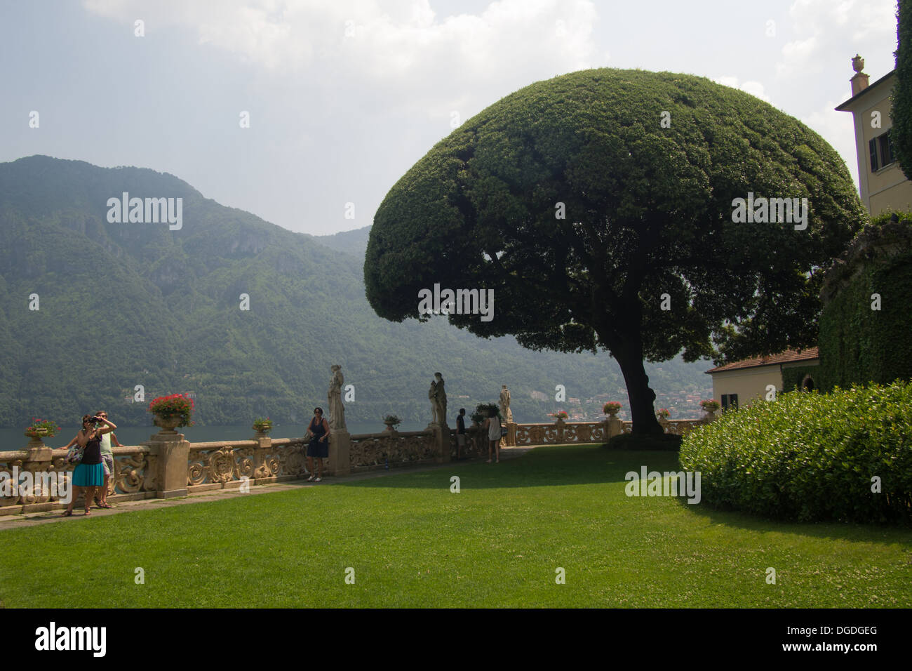 Villa del Balbianello. Lenno, Lake Como, Lombardy, Italy. Film location for James Bond 'Casino Royale' & Star Wars episode II - Stock Image