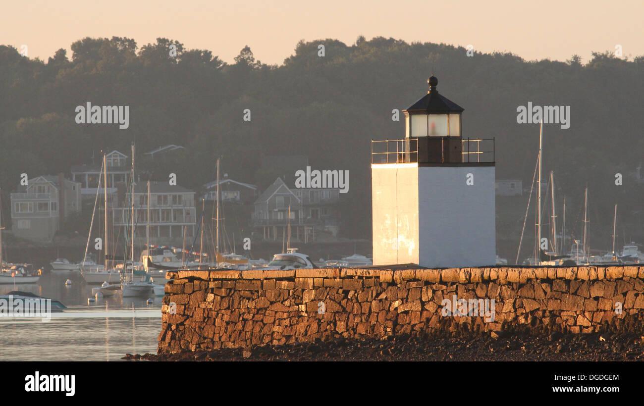 Derby Wharf Lighthouse, Salem, Massachusetts - Stock Image