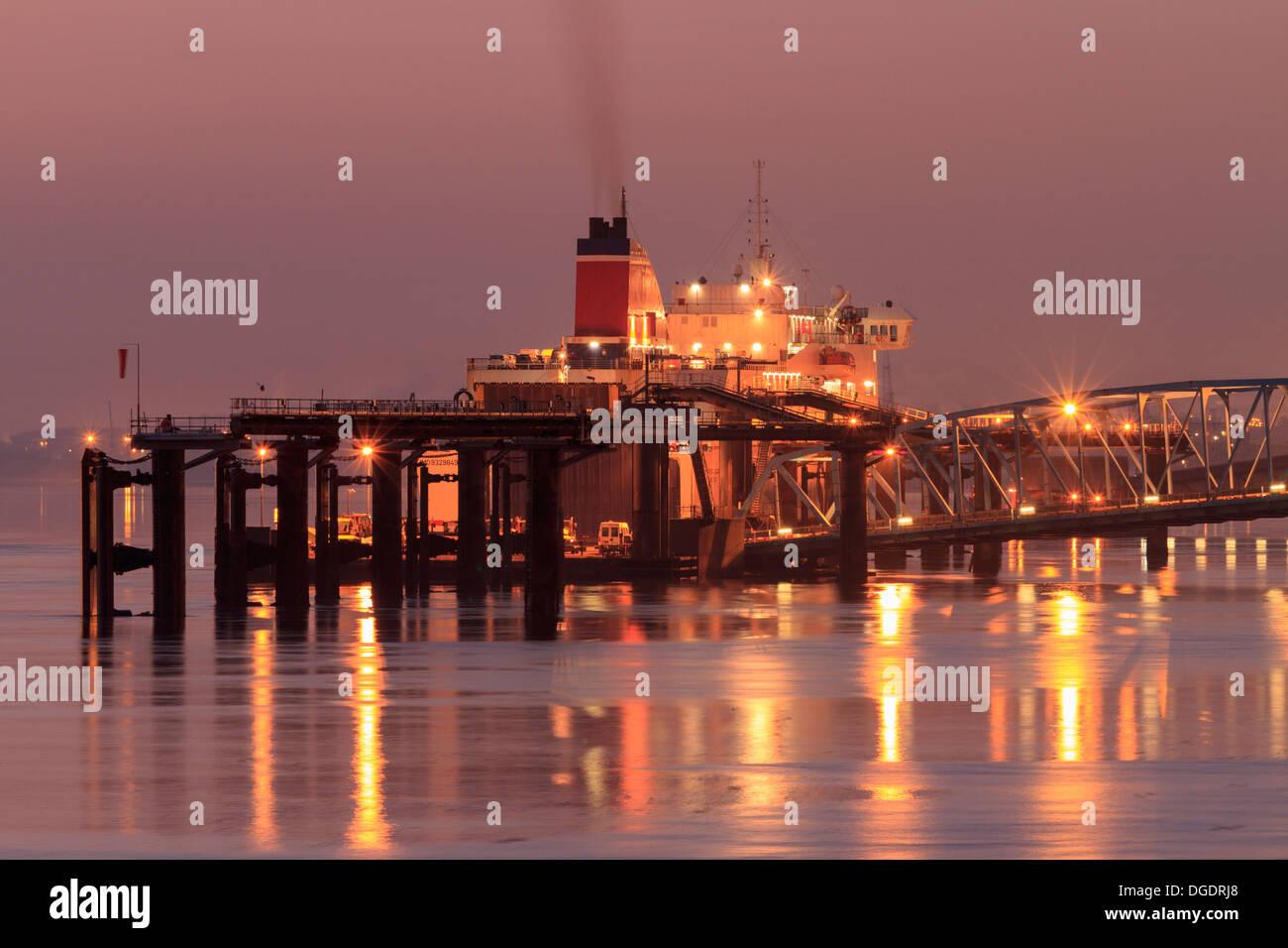 Liverpool ferry Birkenhead, Wirral - Stock Image