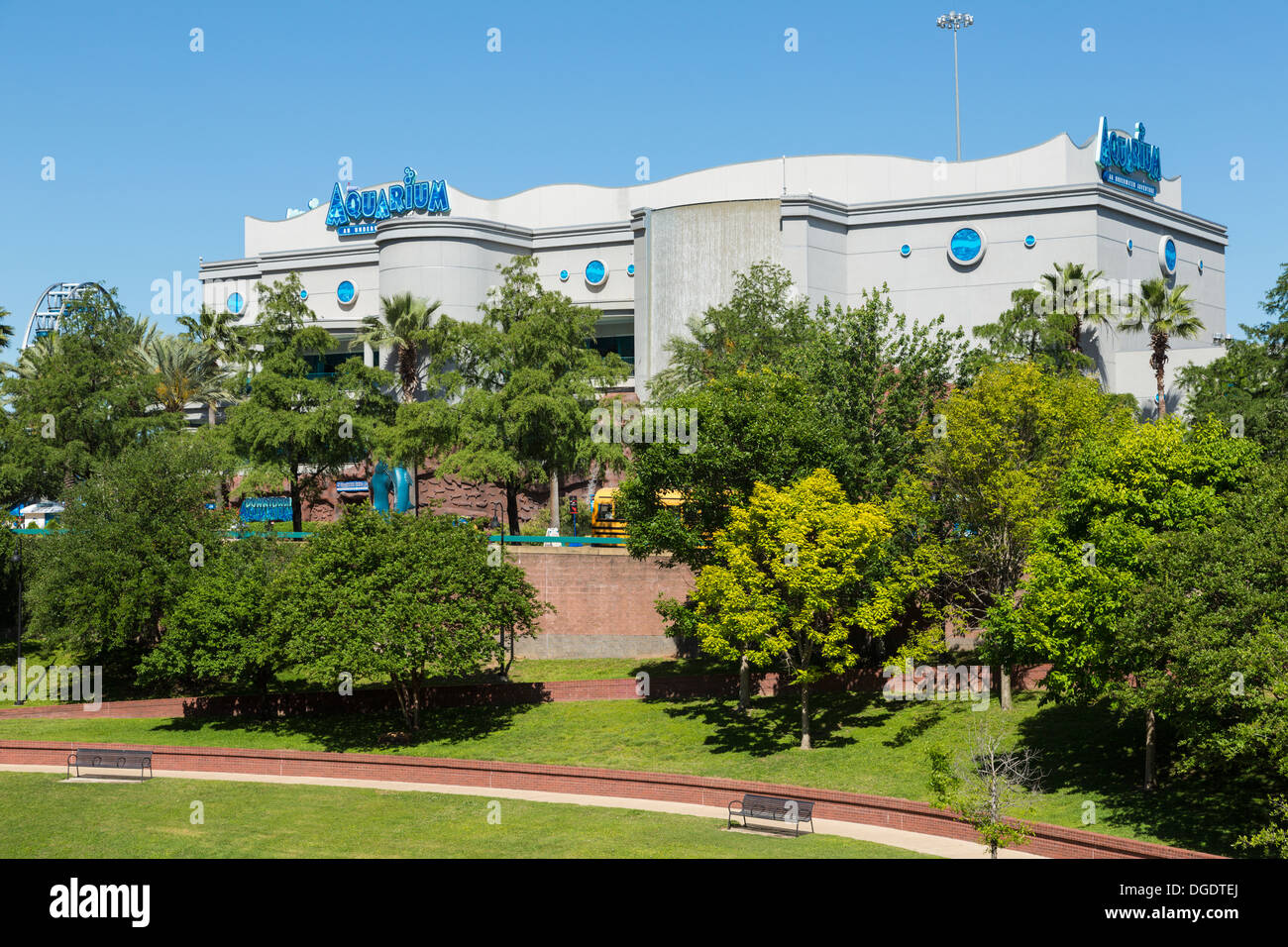 Houston downtown aquarium Texas - Stock Image