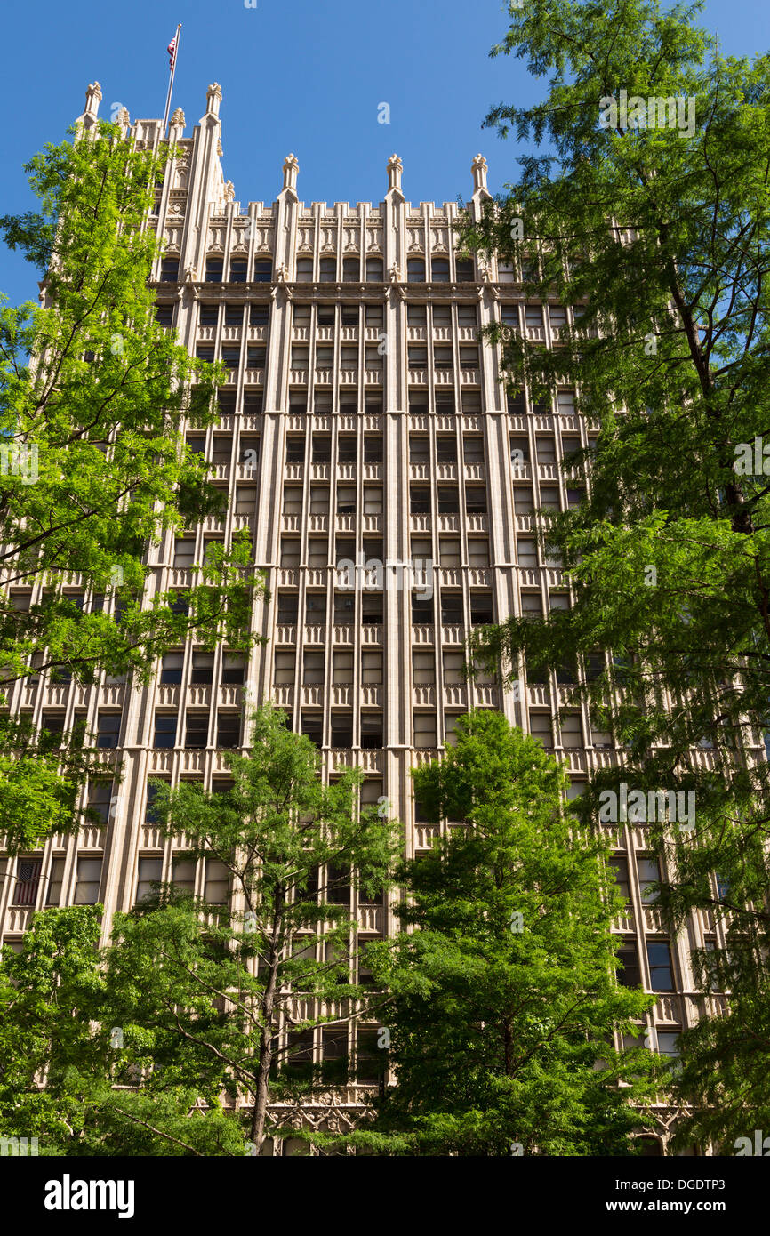The Kirby or Busch Building Main Street downtown Dallas Texas USA - Stock Image