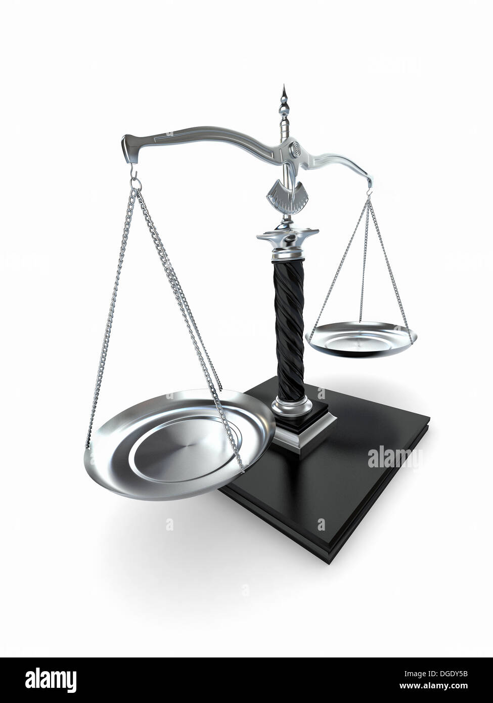 Symbol Of Justice Scale On White Isolated Background 3d Stock