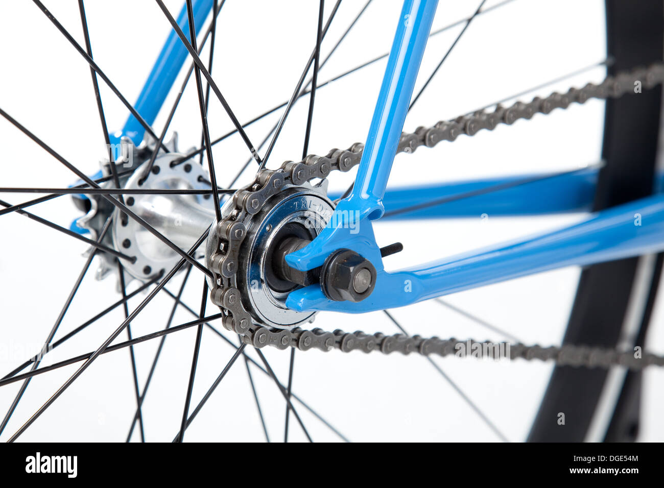 Fixed gear bicycle cog. - Stock Image