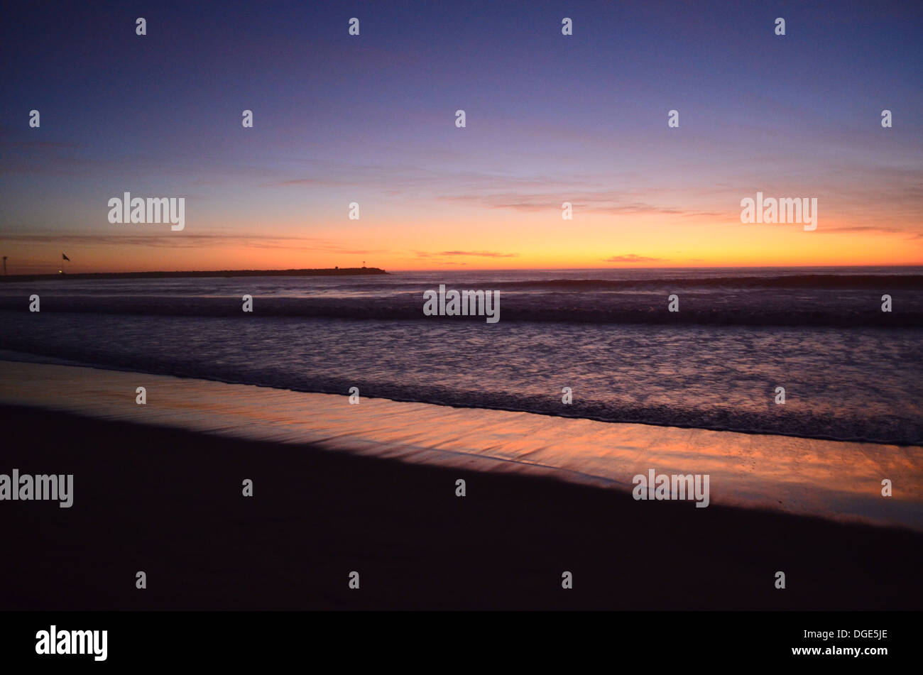 Manhattan Beach Sunset - Stock Image