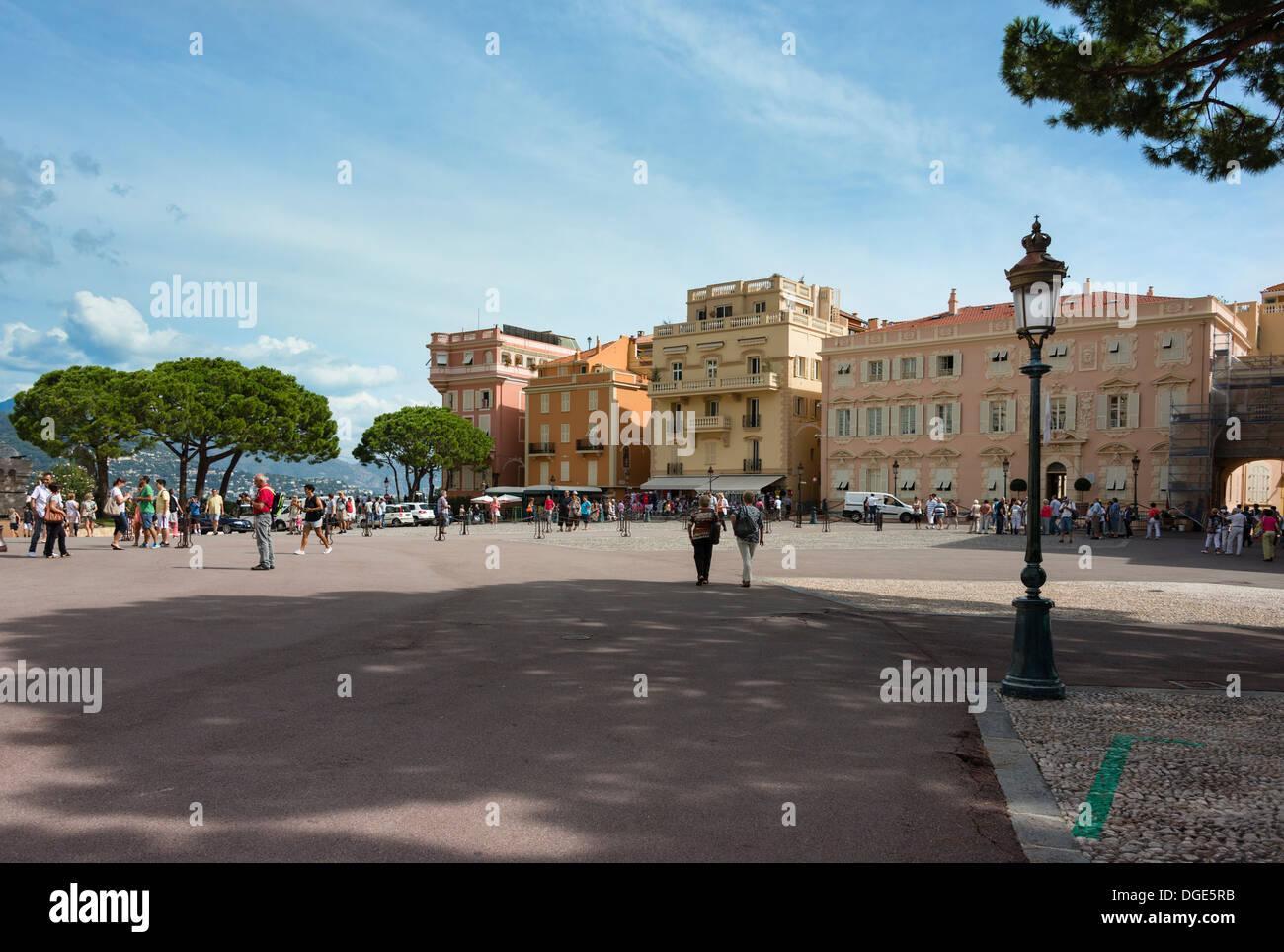 Place du Palais Monaco - Stock Image