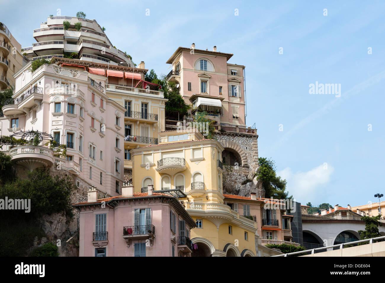 High density housing in Monaco - Stock Image