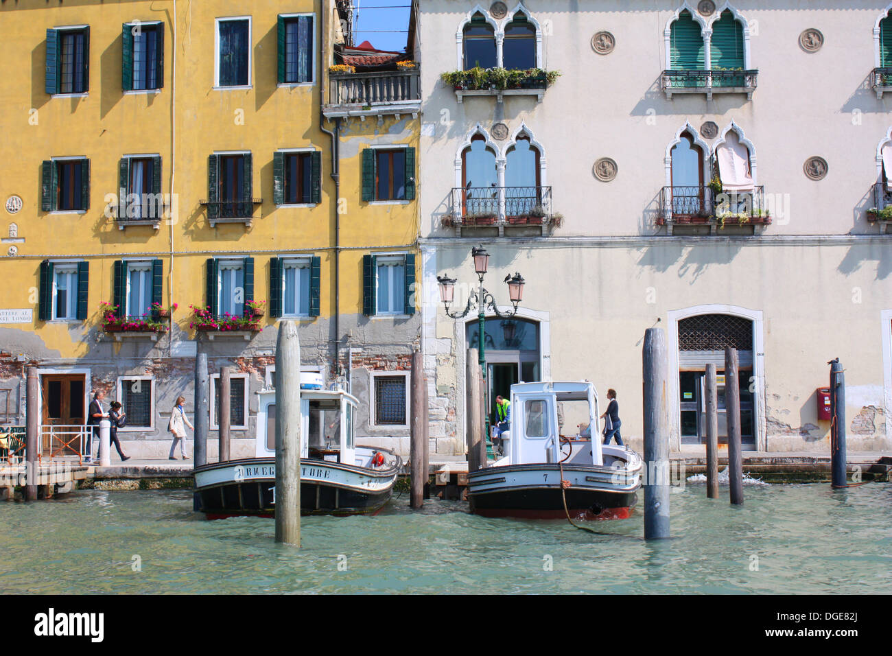 Boats and buildings in Venice, Italy Stock Photo