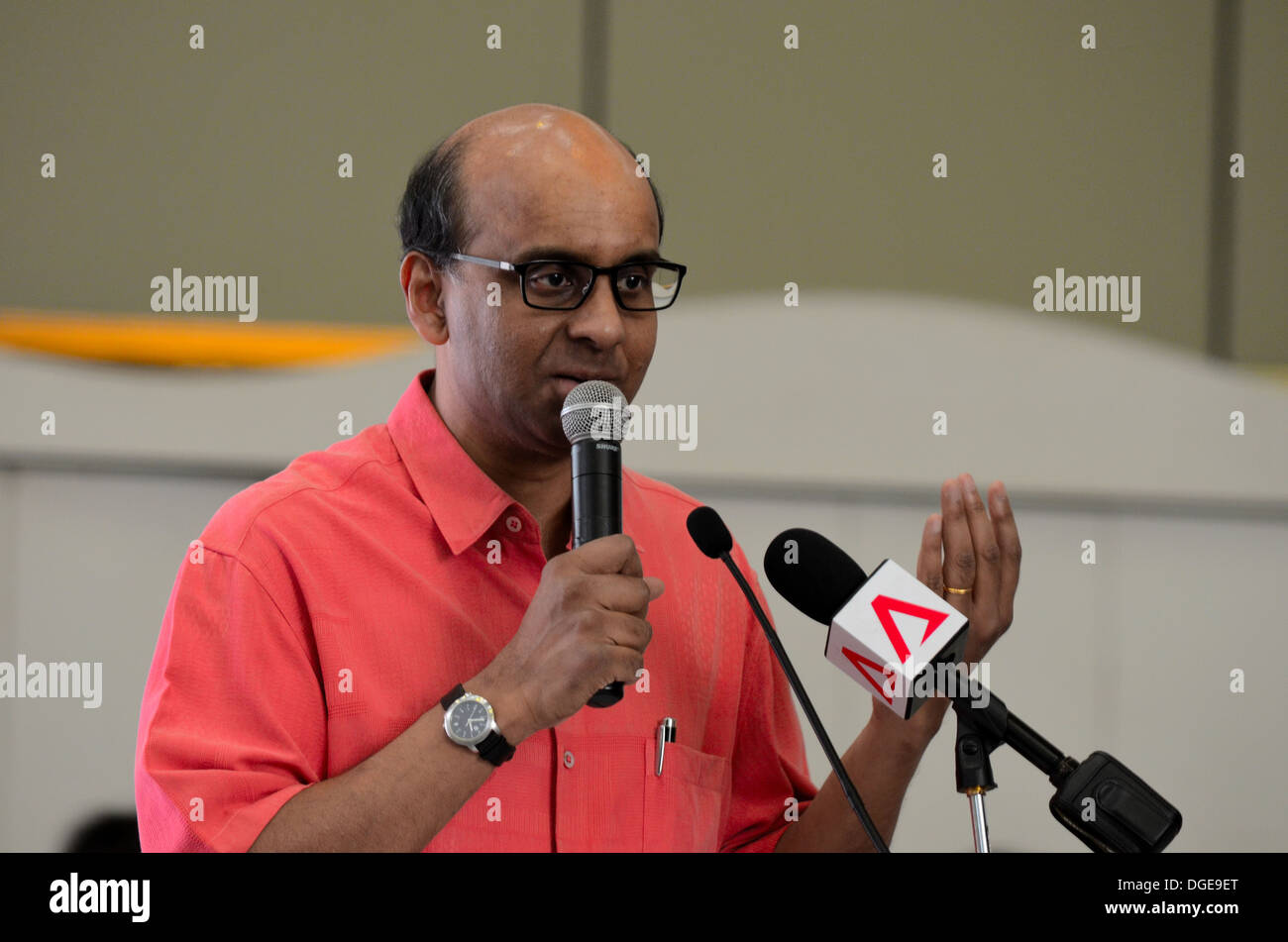 Singapore Cabinet Minister of Finance and Deputy Prime Minister Tharman Shanmugaratnam - Stock Image