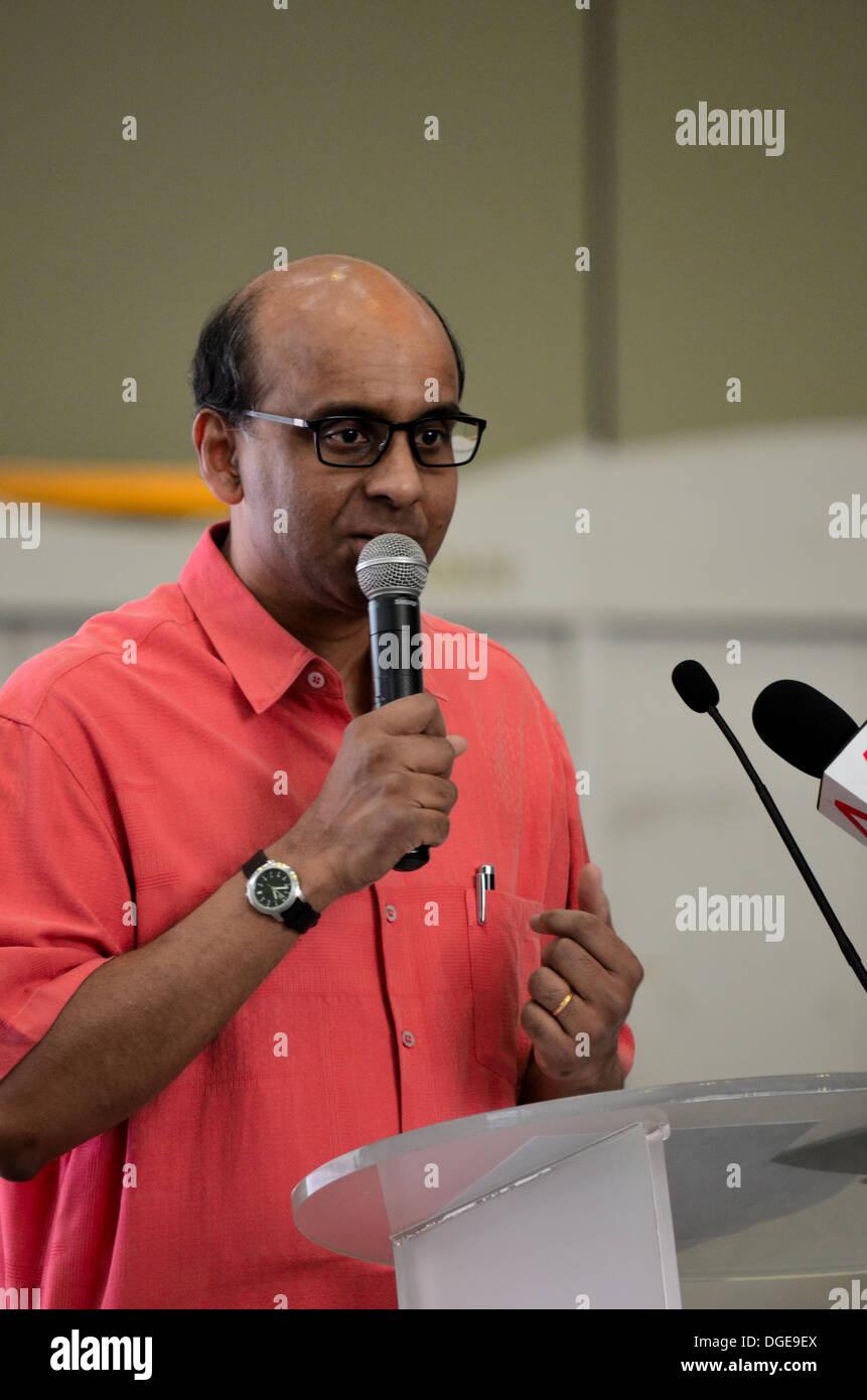 Singapore Cabinet Minister of Finance and Deputy Prime Minister Tharman Shanmugaratnam - Stock Image