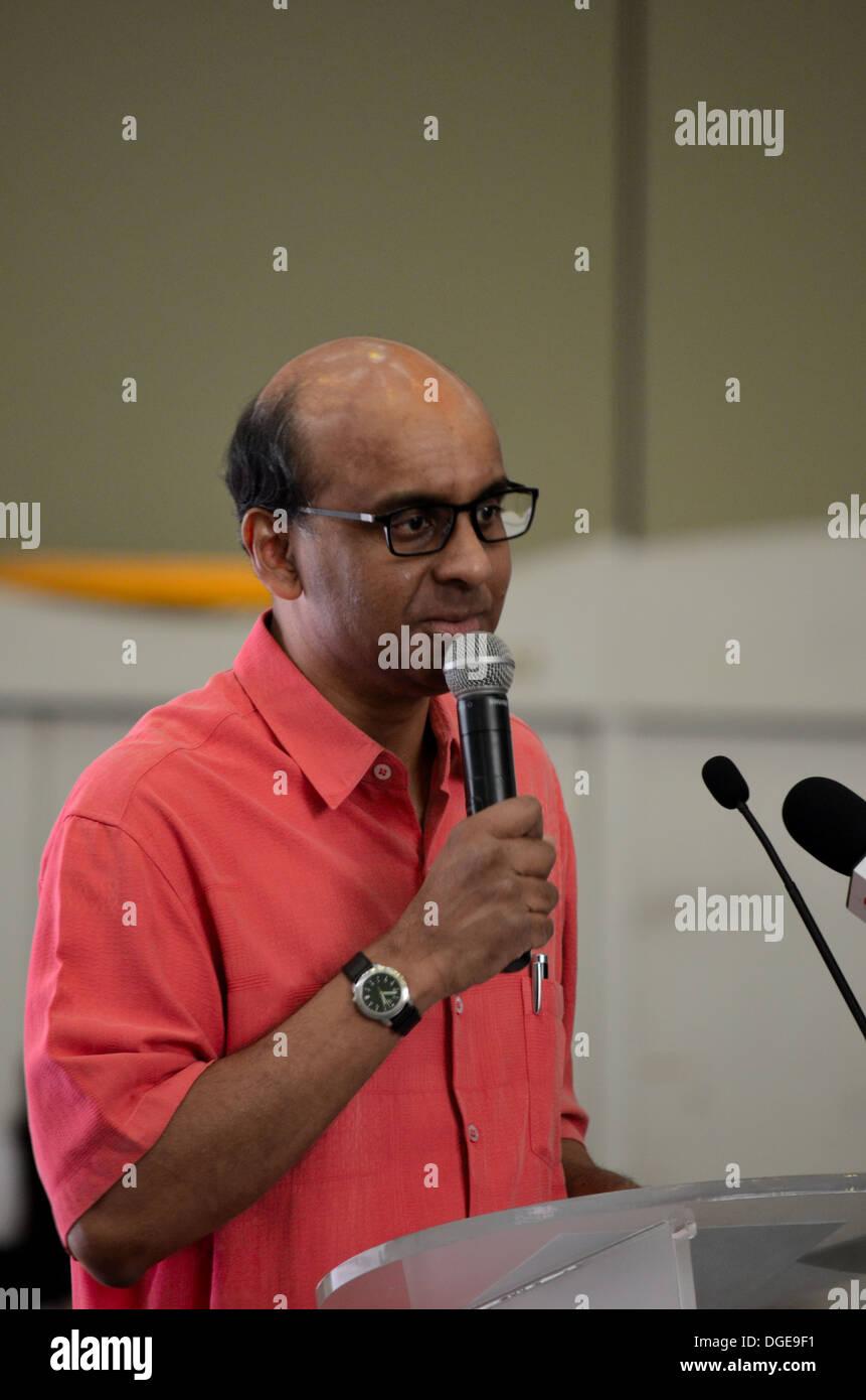 Singapore Minister of Finance and Deputy Prime Minister Tharman Shanmugaratnam - Stock Image