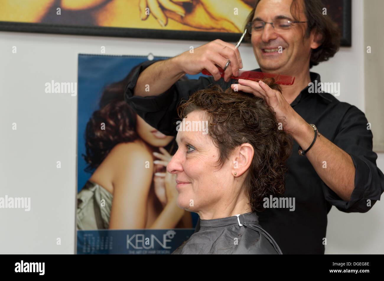 Hairdressing salon - Stock Image